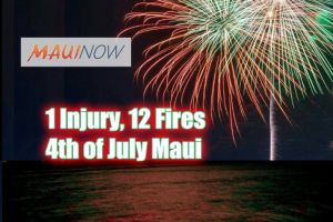 """Maui fireworks injuries. Maui Now graphic. Background image: Rachael Johnson"""