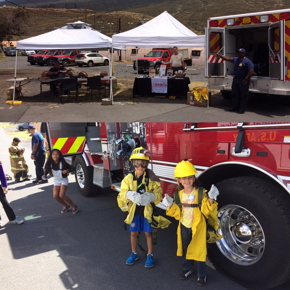 We had a great time hanging out with our partners from U.S. Army-Garrison Fire & Emergency Services and keiki from around the island.