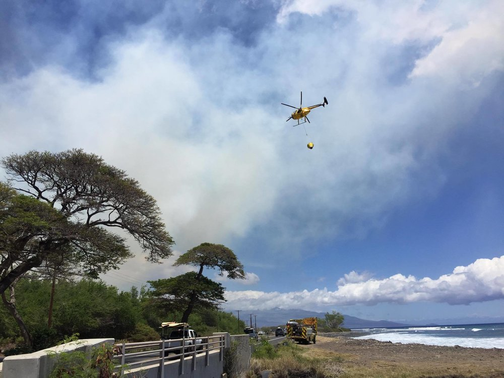 Ukumehame Fire on June 22, 2016. Photo Credit: Timothy Lara / Maui Now contributor