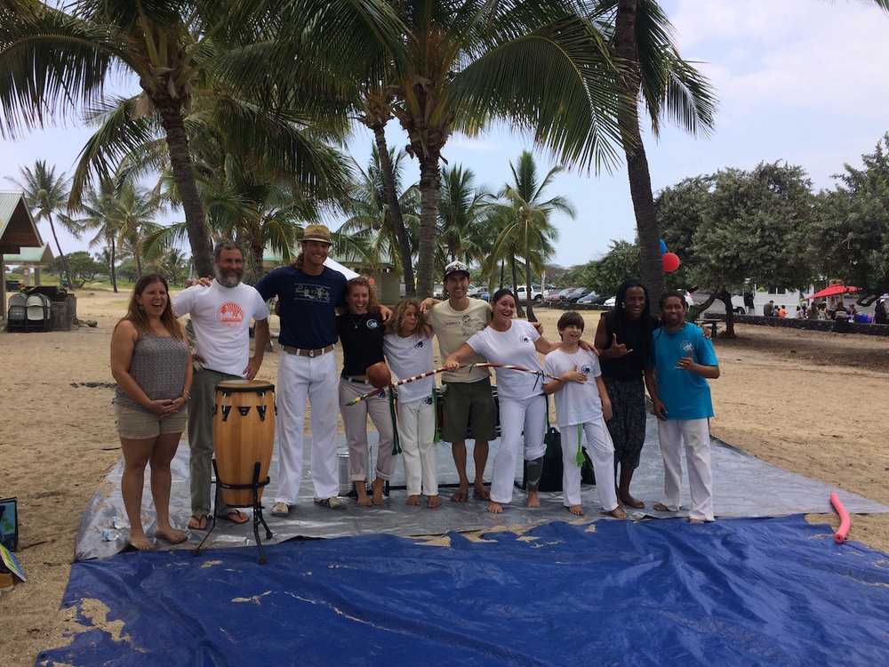 Capoeira workshop and performances thanks to Capoeira Agua de Beber - UCA Hawaii and friends.