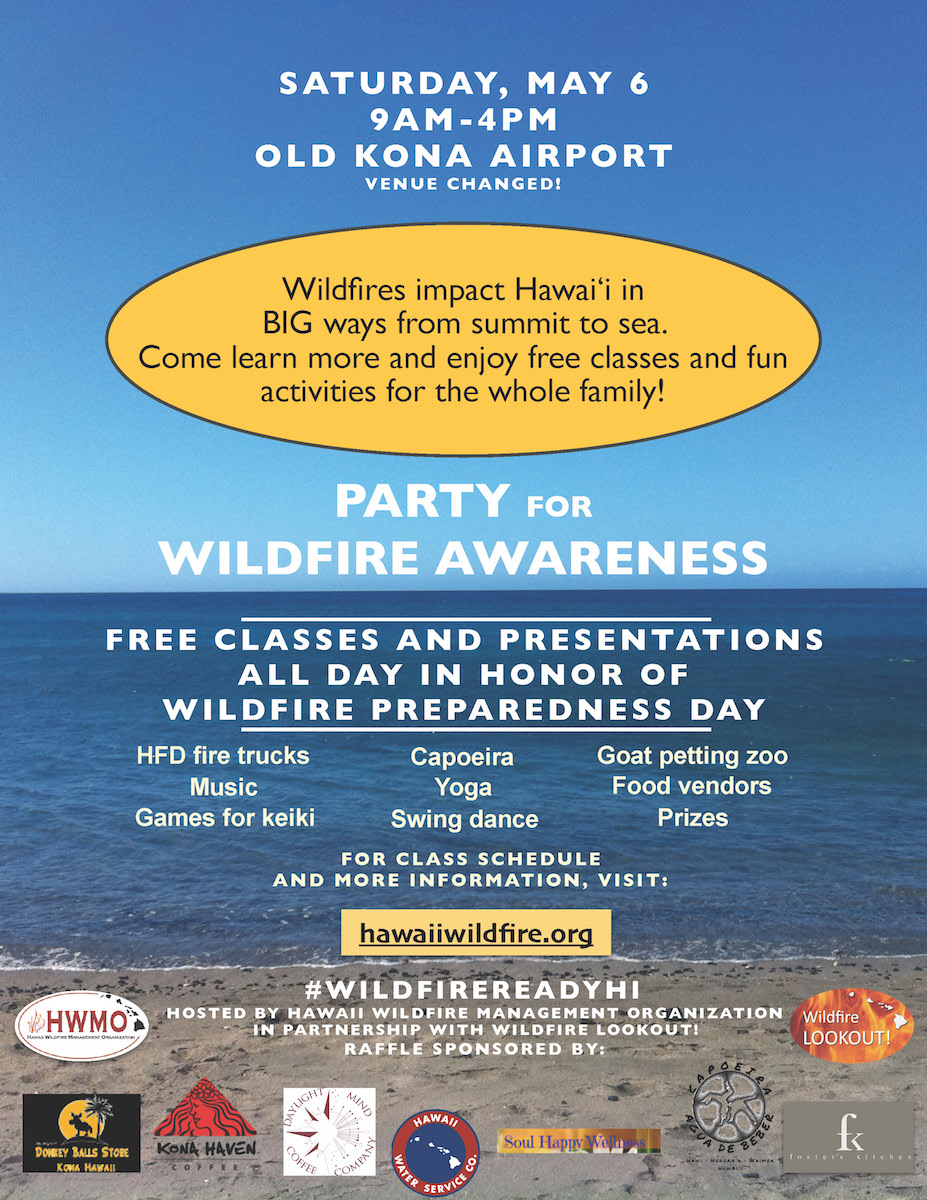 Flyer for Party for Wildfire Awareness