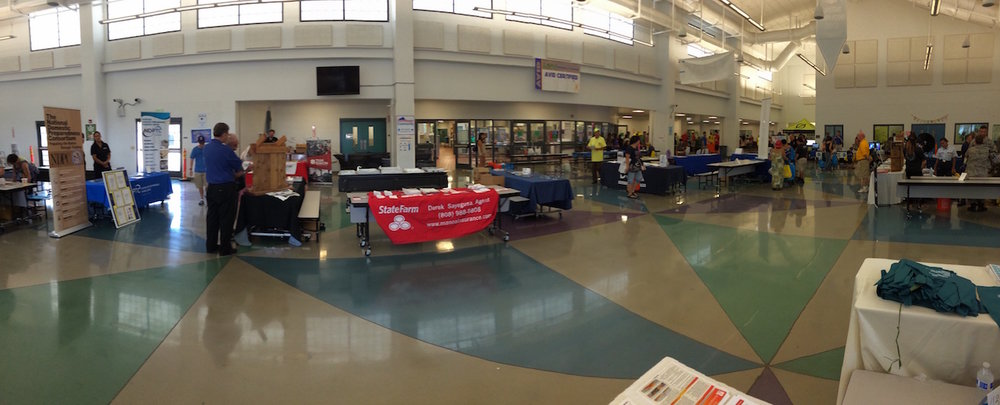 2016 Ewa Beach Emergency Preparedness Fair from the HWMO booth.