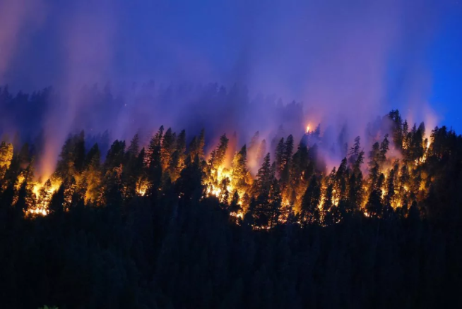 """September 2014 Happy Camp Complex Fire in the Klamath National Forest in California."" Credit: US Forest Service"