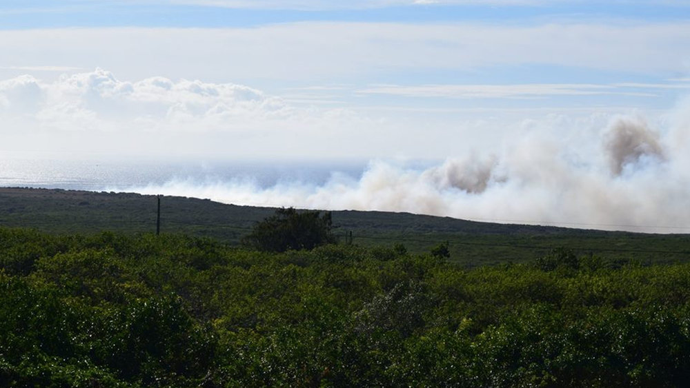Kaalualu Fire - September 21, 2017. Credit: Kane Thomas