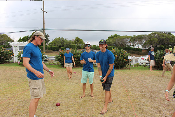 HWMO team getting ready for the bocce ball tournament. Photo credit: Waikoloa Dry Forest Initiative.