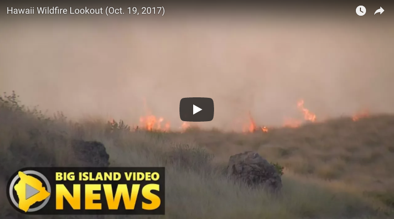 Big Island Video News screen capture from October 19, 2017 video.
