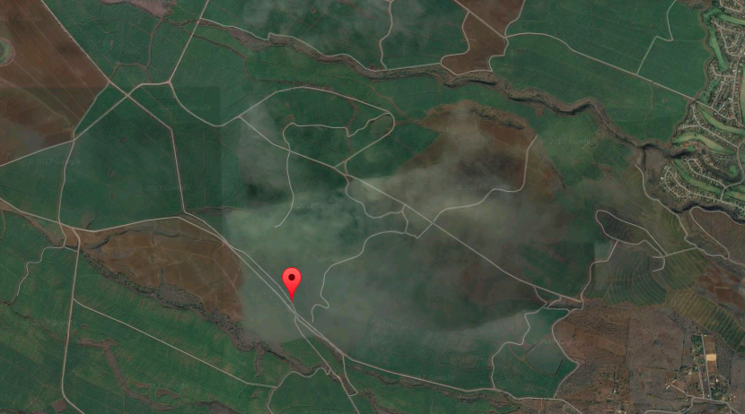 Area where fire occurred - west of Omaopio and Pulehu Road junction.