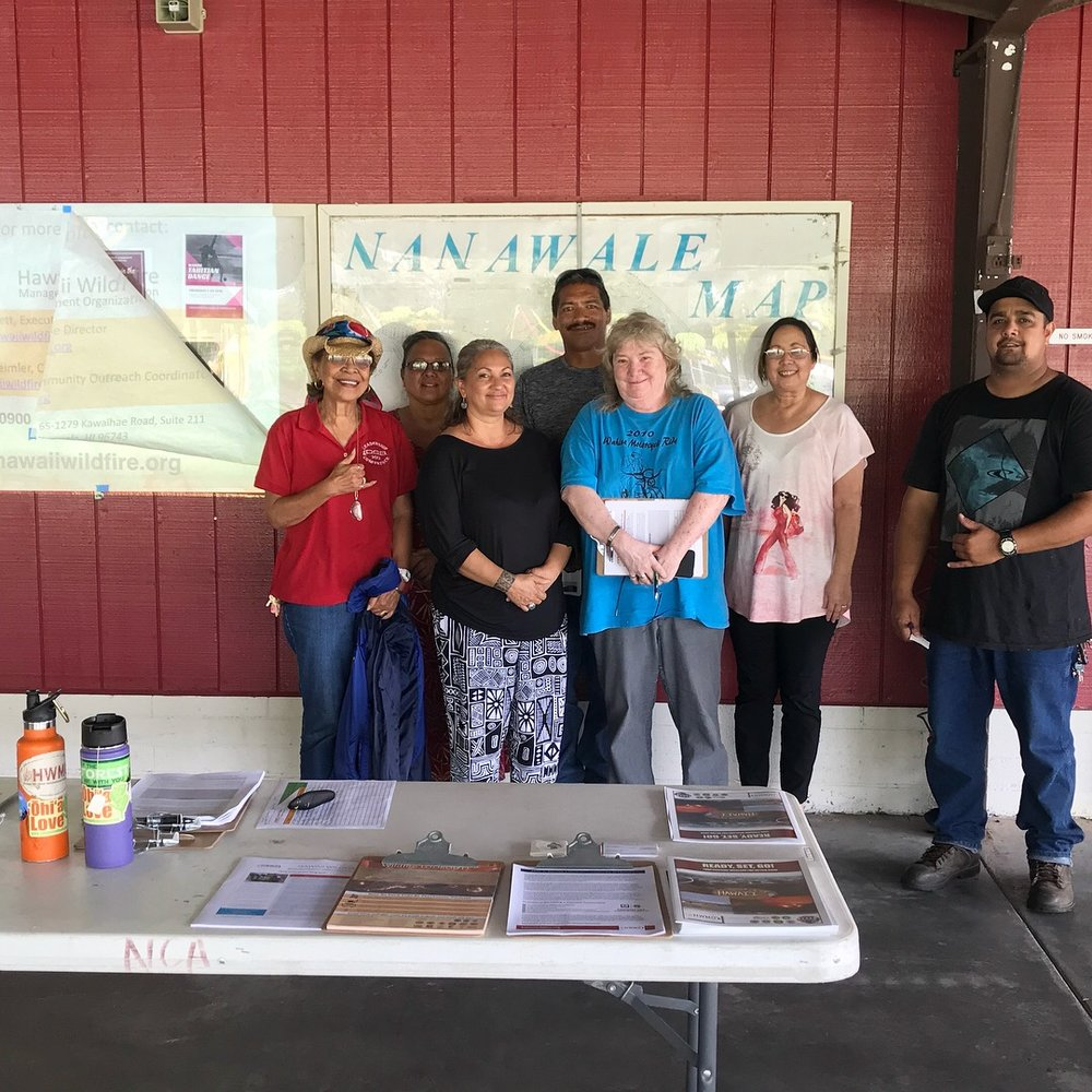 The Nanawale Estates community members who came to the workshop are willing and ready to help the community become a Firewise site.