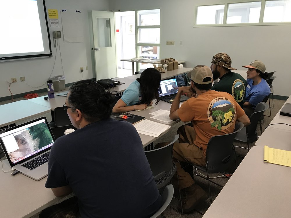 Mauna Kea partners were busy at work mapping fuels management projects on Google MyMaps.