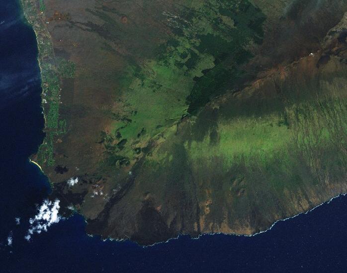 The fire occurred in the vicinity of the Auwahi Wind Farm located in leeward Haleakala.