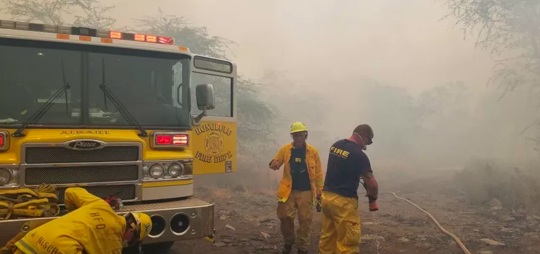 """HFD keeps up with a busy season for brush fires in the summer months."" Credit: Hawaii News Now"