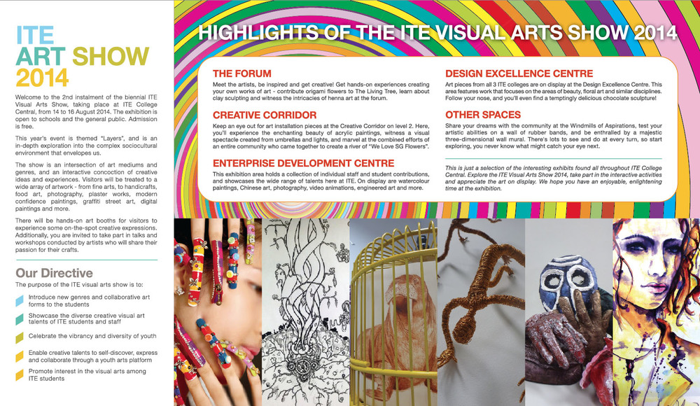 Copywriting & Design for the ITE Visual Art Show 2014 brochure