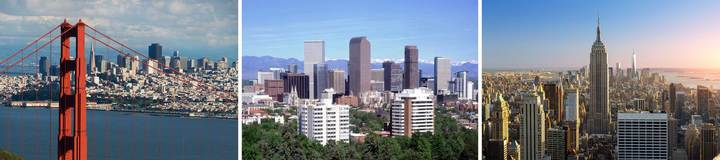 We operate in Silicon Valley, Denver, and New York