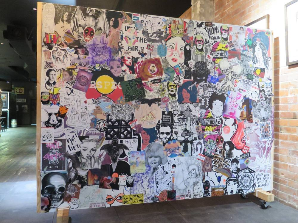 TBC Paste-Up Wall created for Brisbane Street Art Festival. FOR SALE...Details here