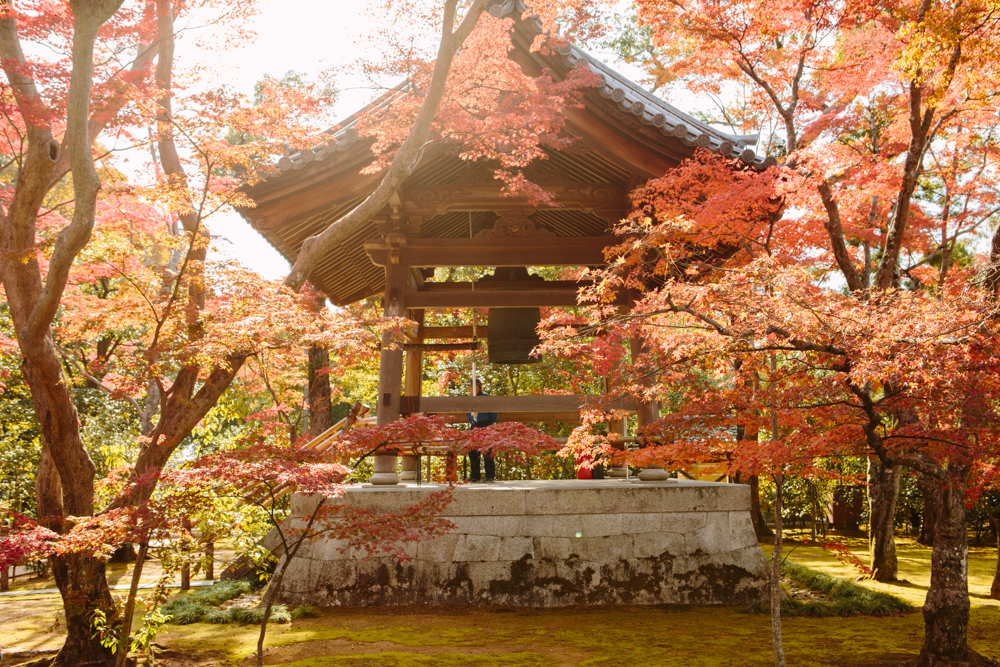 The belfry in the gardens of Kinkaku-ji, the Golden Pavillion, in Kyoto