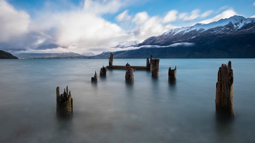An old pier on Lake Wakatipu