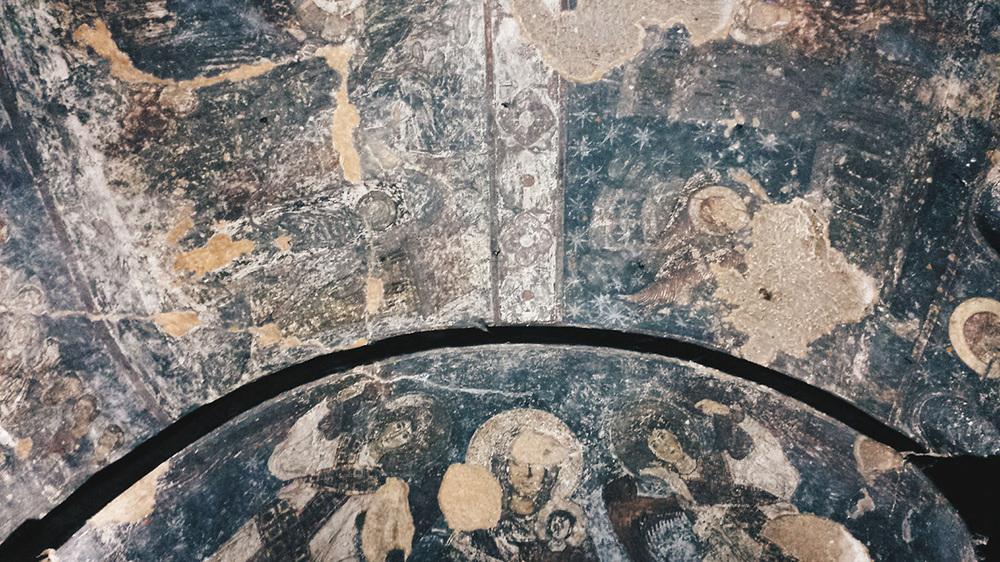 Фреска 12 века в Вардзии