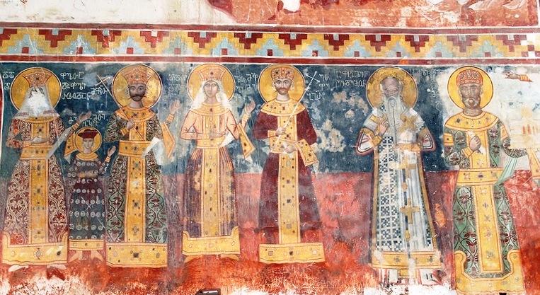 Давид Строитель - как говорится, крайний справа, со свитком в руке
