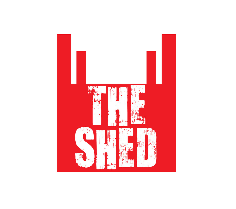 The Shed - the National Theatre's temporary theatre space I created this quirky and unique branding for the small theatre venue's residency on London's South Bank. Built by Haworth Tompkins, this eye catching and unusual piece of architecture strips back to basics the requirementsfor making theatre. In turn, the branding uses to full effect the shape of the structure, along with a simple pallet of red, white and black, plus the wooden texture taken from the boards which clad the building. This simple but effective approach is also continued throughout  the foyer, with gig style listings posters and simple and striking uniforms for the staff.