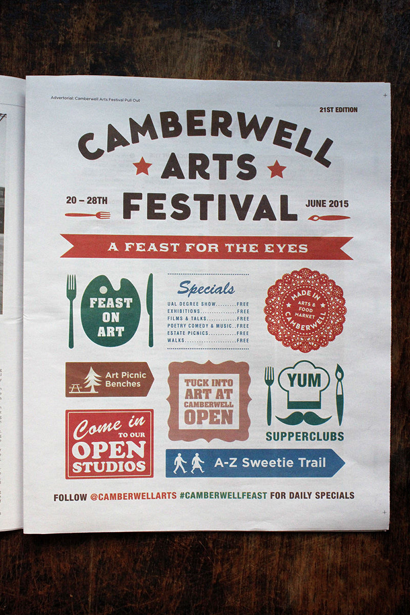 Camberwell Arts Festival advertorial