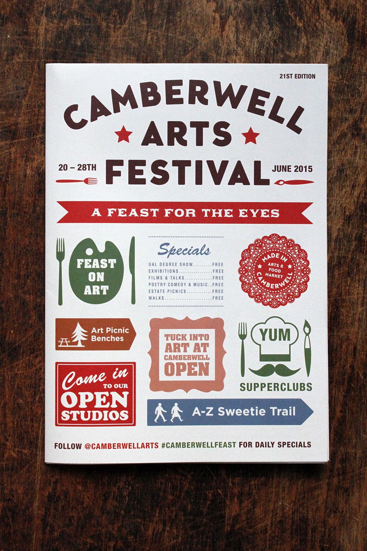 Camberwell Arts Festival brochure cover