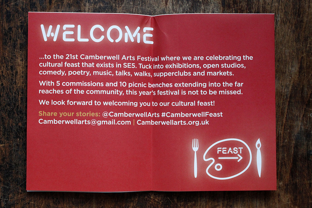 Camberwell Arts Festival brochure page 1