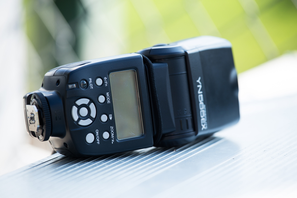 A no-nonsense third-party flash if my go-to unit or all things macro. I've fashioned a wrist-strap to mine, which keeps the speedlight attached should I need to release my left hand in a hurry.