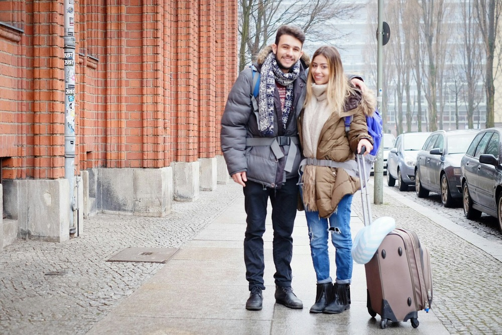 Amanda and Victor, just before they left Berlin