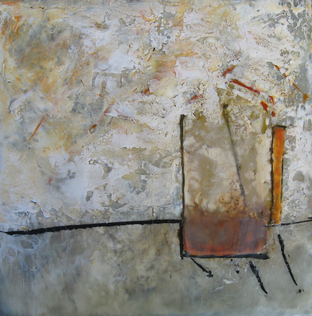 Empty Vessel, encaustic on panel, 12x12, 2011