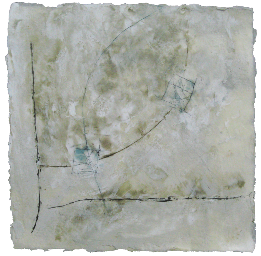 Locations, encaustic on paper, 12x12, 2011