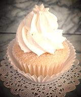 Wedding Chapel White white cake butter-cream frosting