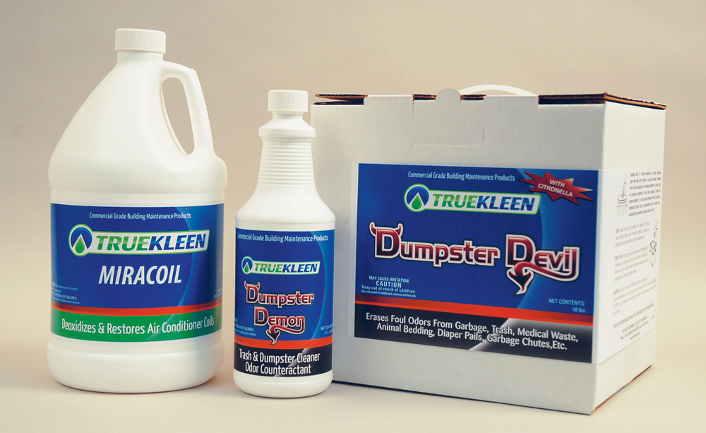 Click here for more product information:    TRUEKLEEN Dumpster Devil   ,    TRUEKLEEN Dumpster Demon    and    TRUEKLEEN Miracoil   .