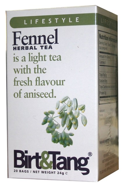 Birt & Tang  If excessive Christmas truffle consumption has left you craving a sugar fix, reach for the naturally sweet aniseed flavor of fennel instead. It's blended with green tea for extra antioxidant goodness.