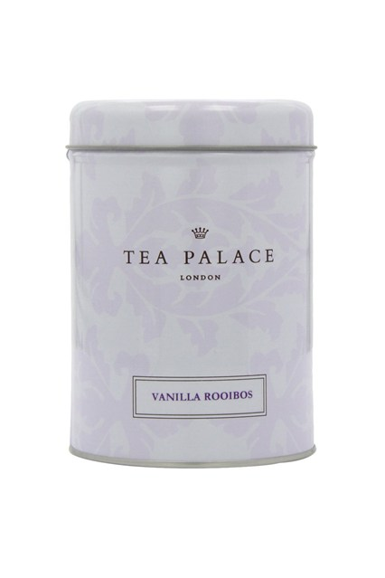Tea Palace  Antioxidant-packed and caffeine-free rooibos contains Vitamins C and E, and is known for its anti-ageing properties. This blend is infused with Madagascan vanilla pods for a guilt-free sweet treat.