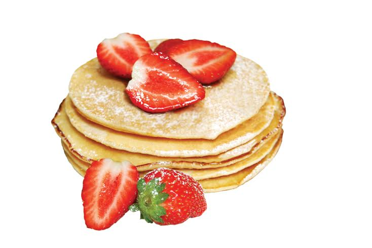 Protein Pancakes with fresh Strawberries