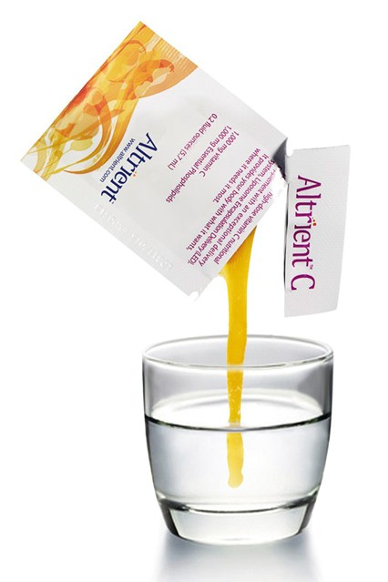 TURBO-CHARGE YOUR VITAMIN C  We're in the heart of cold and flu season. Altrient C vitamin C pouches (£30 for 30) ensure that 98 per cent of the good stuff gets absorbed into your bloodstream immediately. Squeeze them directly into your mouth or stir into water.     www.abundanceandhealth.co.uk