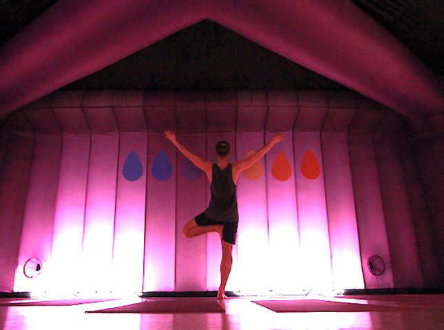 TURN UP THE HEAT  Hot yoga has been around for a while, but Hot Pod Yoga is taking the workout to the next level in terms of convenience. It is vinyasa flow yoga in 37 degree heat, but in a portable blow-up tent that pops up across London or comes to your office. There is no excuse for not finding the time now…