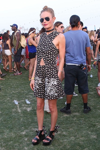 Kate Bosworth wore a Carven spring/summer 2014 playsuit.