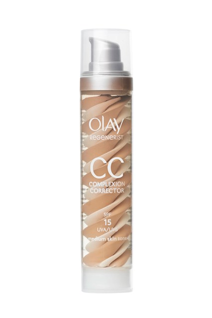 Olay  A blend of serum, SPF 15 moisturiser and sheer foundation, Olay's CC cream specifically targets the signs of ageing, working on reducing the appearance of wrinkles and dark spots. Lightweight and hydrating, it can be worn alone or as a base - ideal for rushed mornings or lazy weekends.