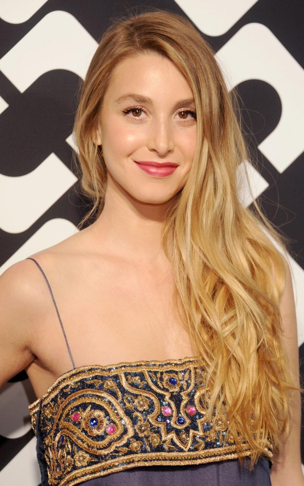 """Whitney Port """"This Kérastaseshampoo leaves my roots cleansed, and the conditioner leaves my hair feeling really smooth, luxurious and light without weighing it down. This serum is best for my long hair, as it's non-greasy and leaves a crystal shine."""" KérastaseCristalliste Range, from £13.60 at Feel Unique"""