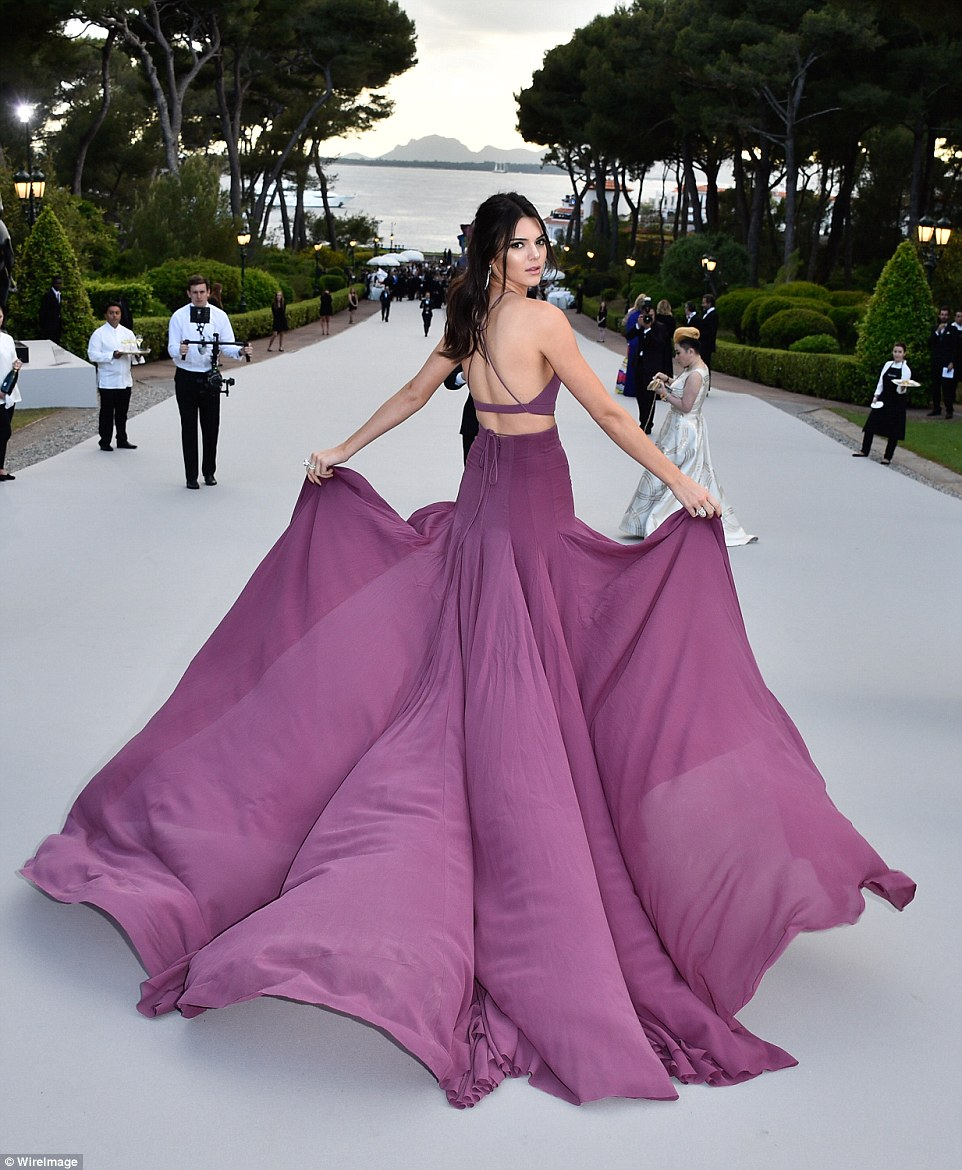 Kendall Jenner  wearing  Topshop  at Cannes 2015