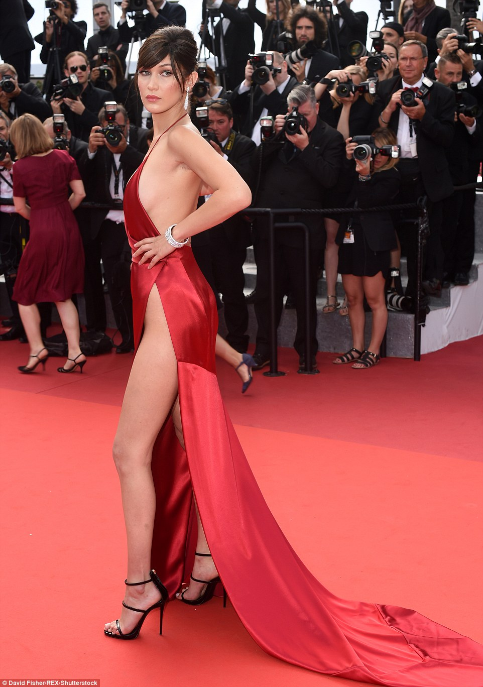 Bella Hadid  wearing lexandre  Vauthier Couture  at Cannes 2016