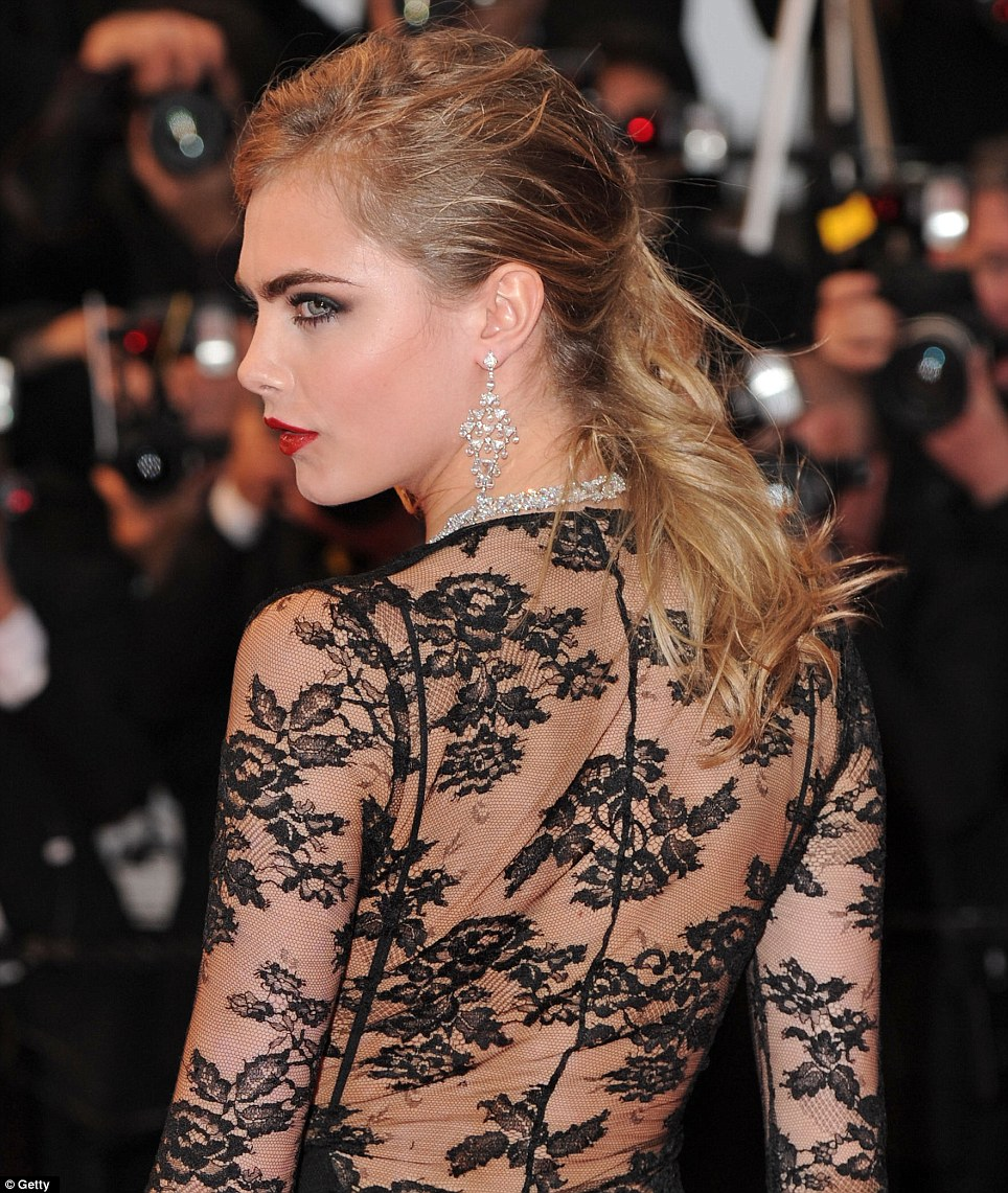 Cara Delevingne  wearing  Burberry  at Cannes 2013
