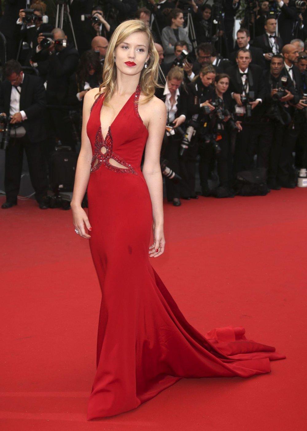 Georgia May Jagger  wearing  Roberto Cavalli  at Cannes 2017