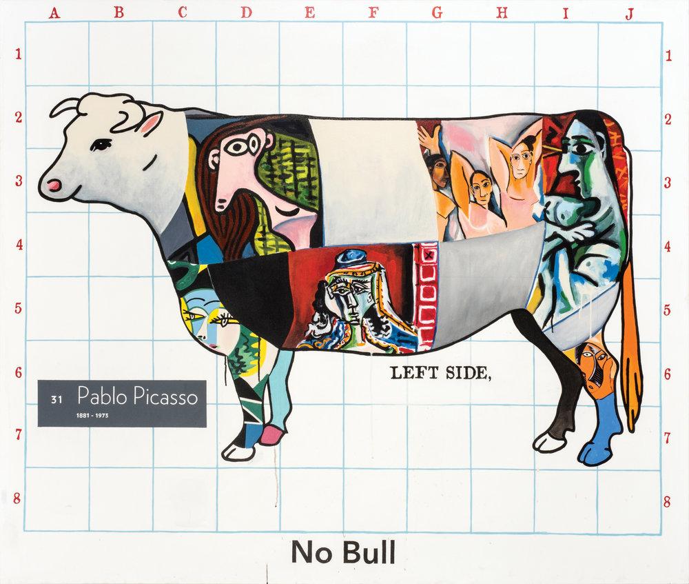 "No Bull  acrylic on canvas 66 x 78"" 2016"