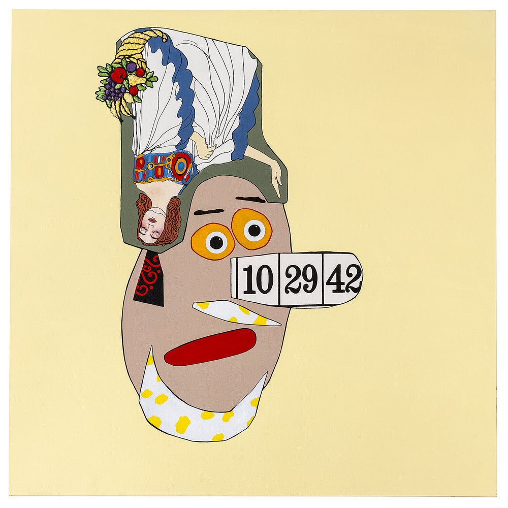 "Fruitful Mind  acrylic on canvas 60 x 60"" 2014"