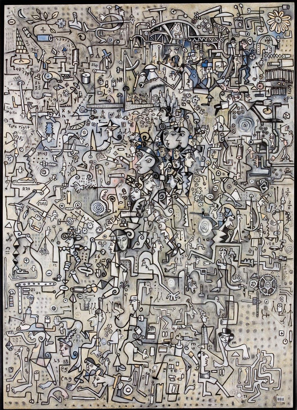 "Unconscious   oil on canvas  92 x 66""  2006"