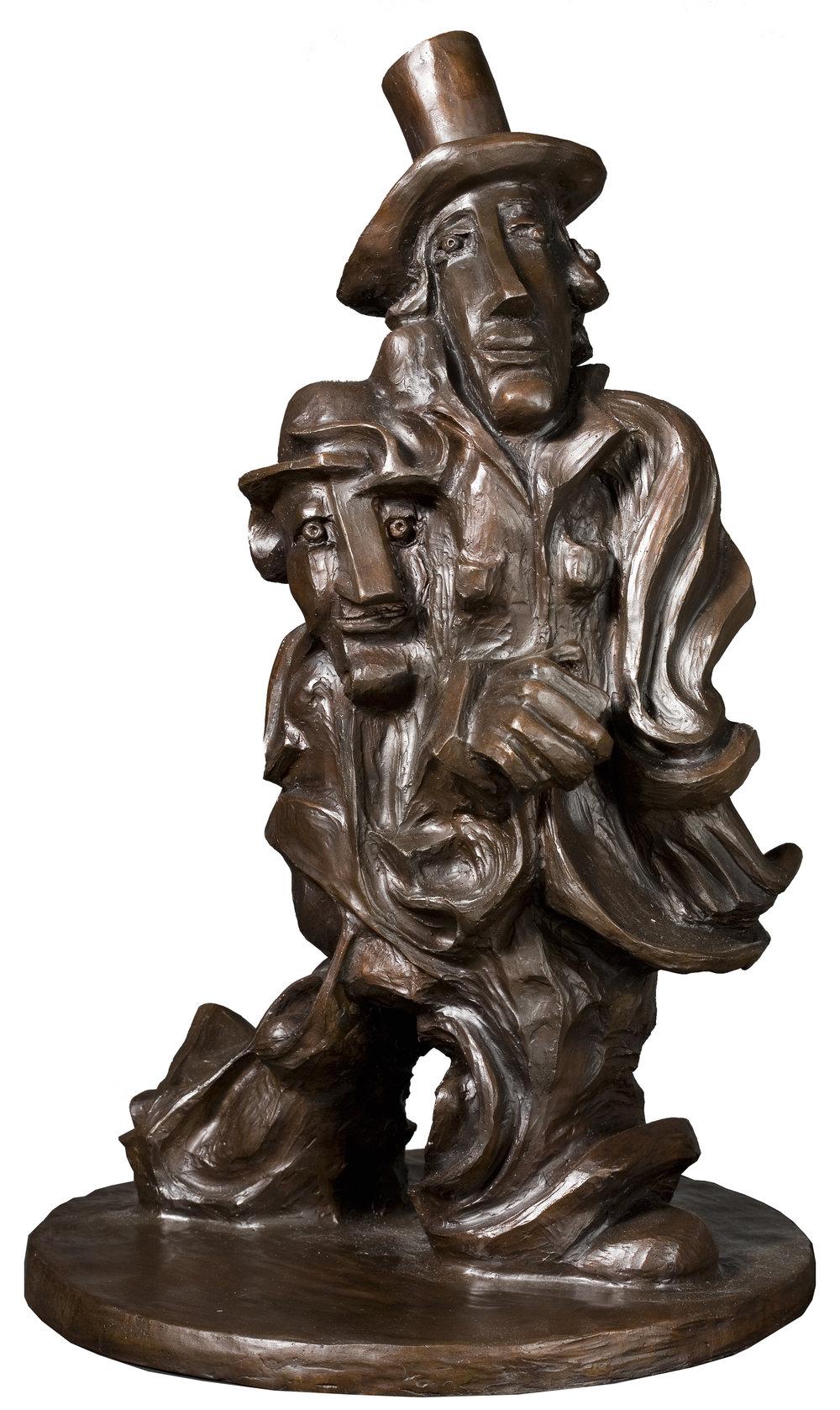 "The Pioneer  bronze  20 x 7 x 11""  2014"