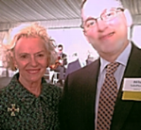 Illinois Chief Justice Anne Burke with Mike Schiffman