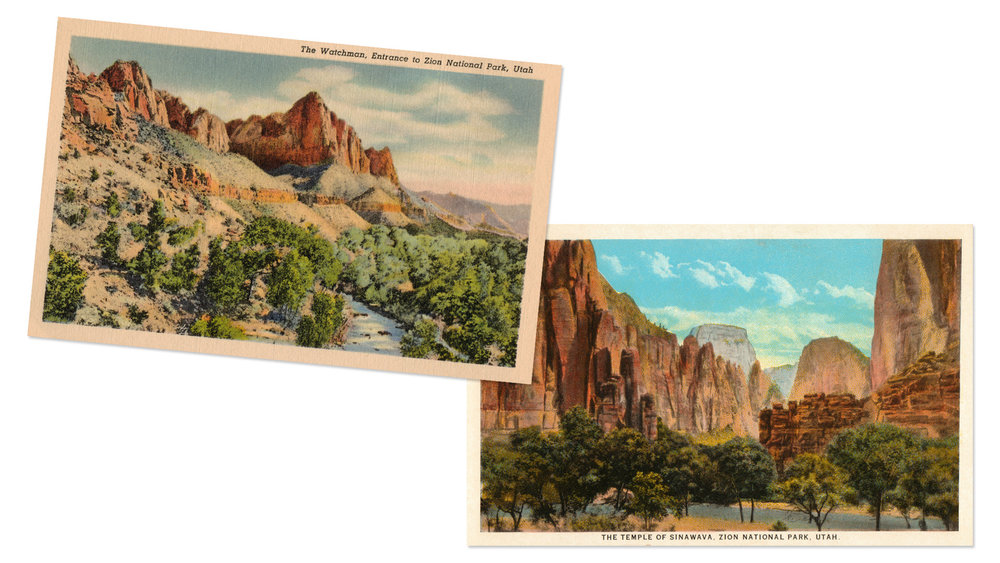 Zion National Park Postcards